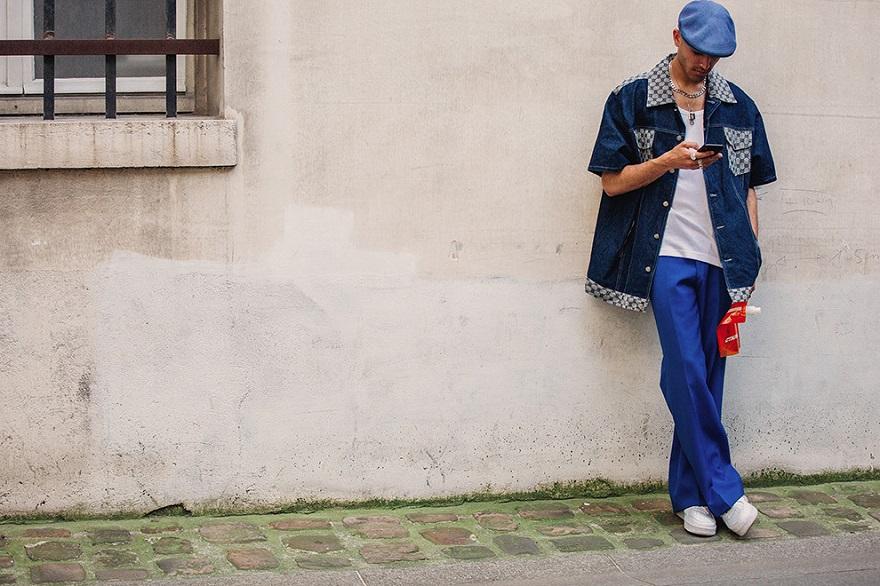 Уличная мода Парижа-09