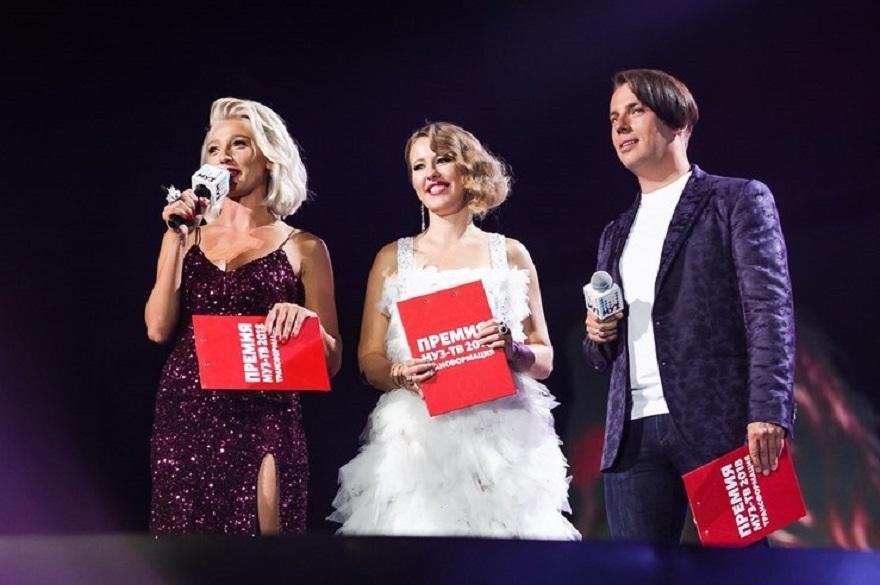 Ведущими вечера были Настя Ивлеева, Ксения Собчак и Максим Галкин