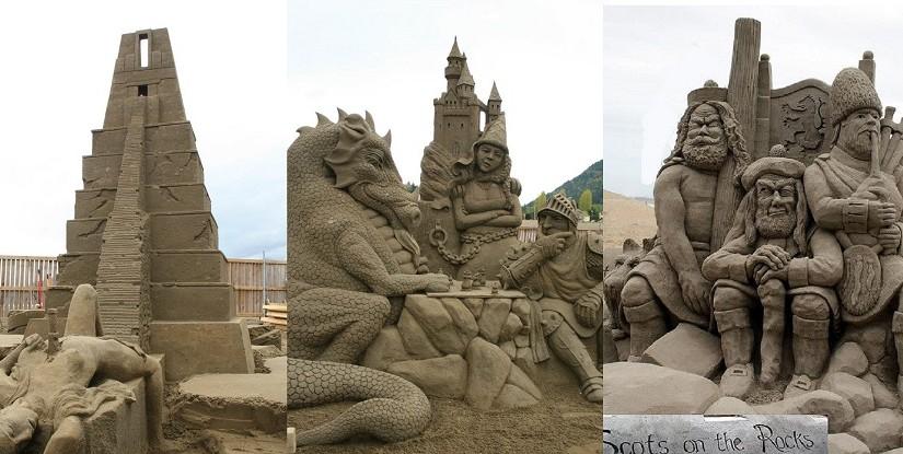 Песчаные скульптуры на пляжах мира: фотогалерея