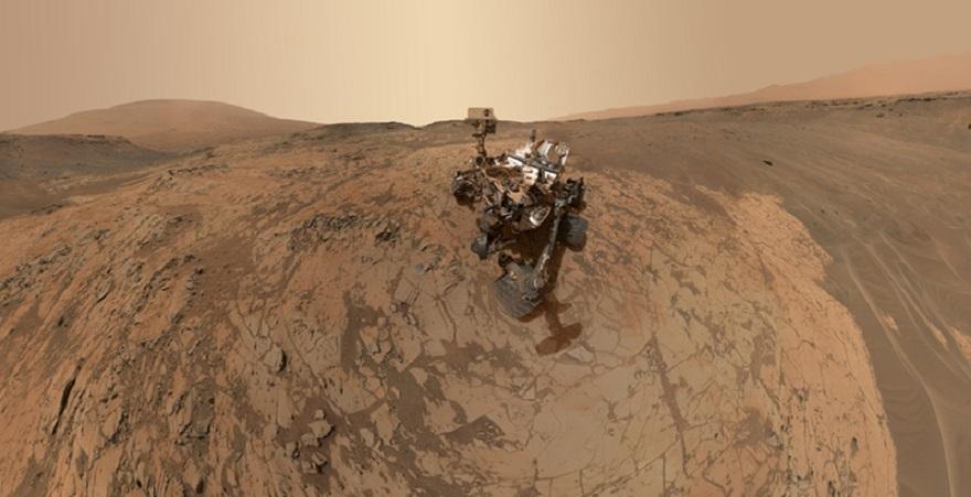 Фото на поверхности Марса
