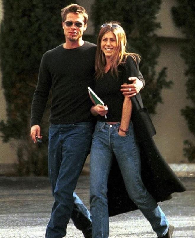 Брэд Питт и Дженифер Анистон 1999