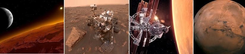 Уникальные фото Марса из космоса и планеты Земля