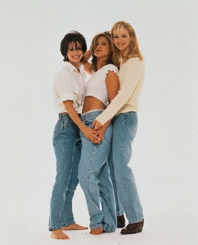 Кортни Кокс, Дженифер Анистон и Лиза Кудроу, 1995