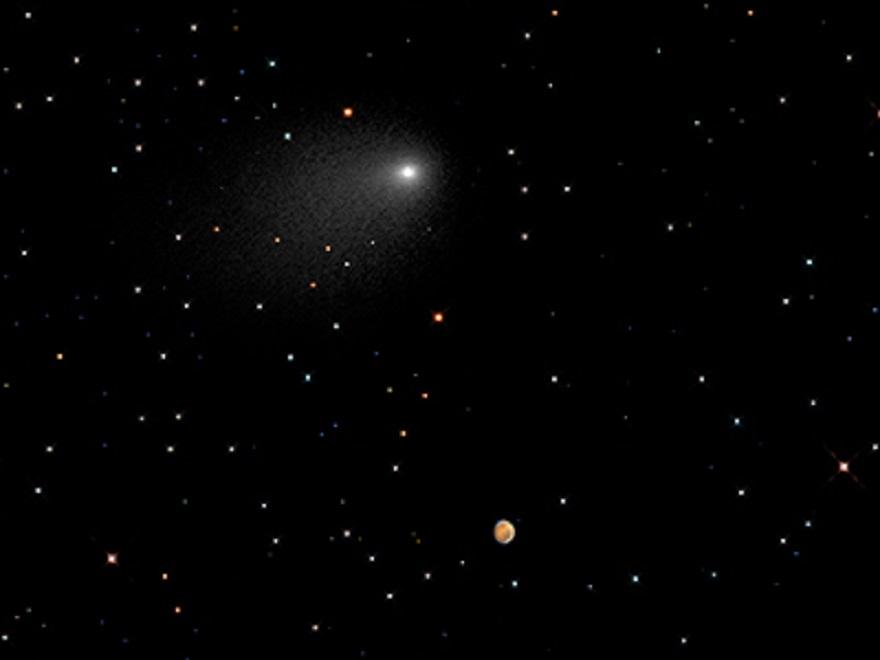 Марс и комета