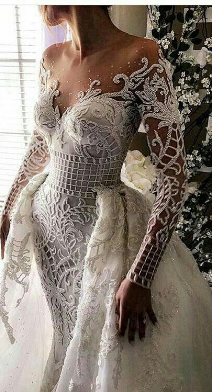 Модные свадебные платья 2018-14