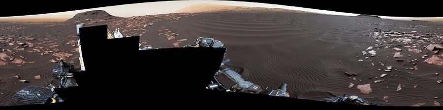 Фото песчаной дюны на Марсе