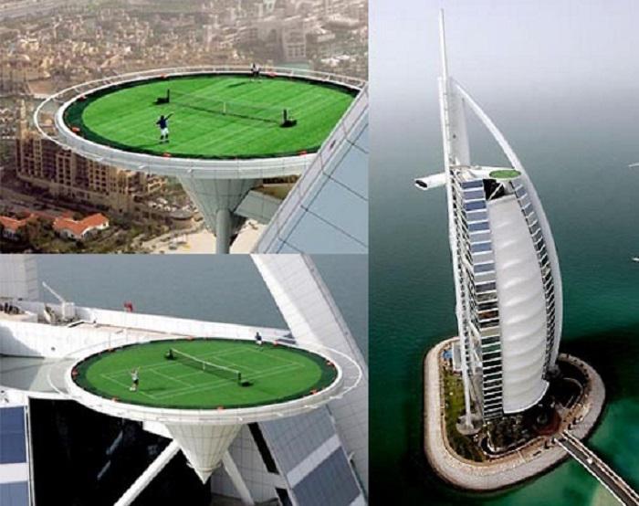 На крыше небоскрёба в Дубаи