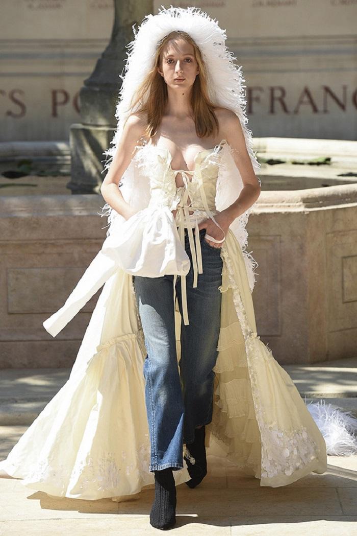 Свадебное платье от Sonia Rykiel Couture осень - зима 2018
