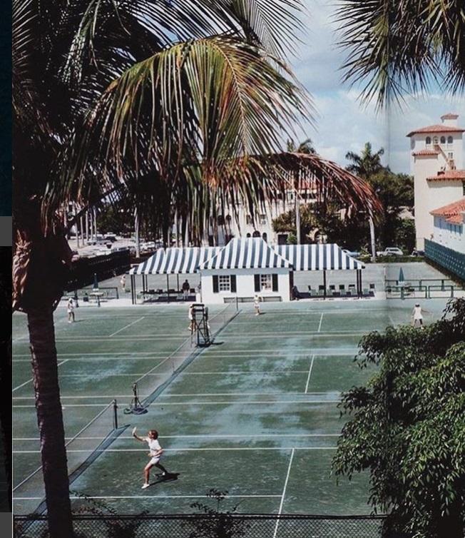 Ещё один теннисный корт на природе
