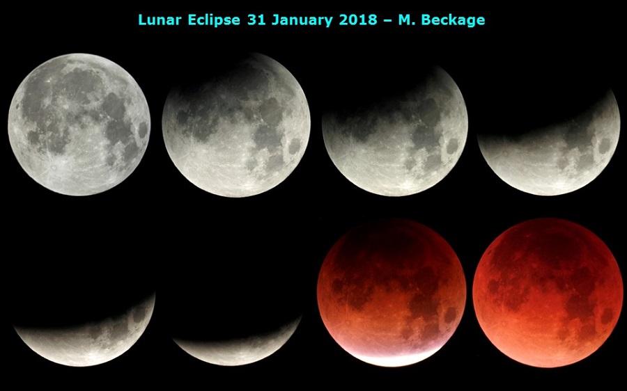 Луна 2018: фото лунного затмения 31 января 2018 года